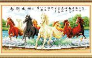 """Tiết lộ về 8 con ngựa trong bức """"Mã đáo thành công"""""""